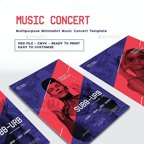 Multipurpose Minimalist Music Concert Template
