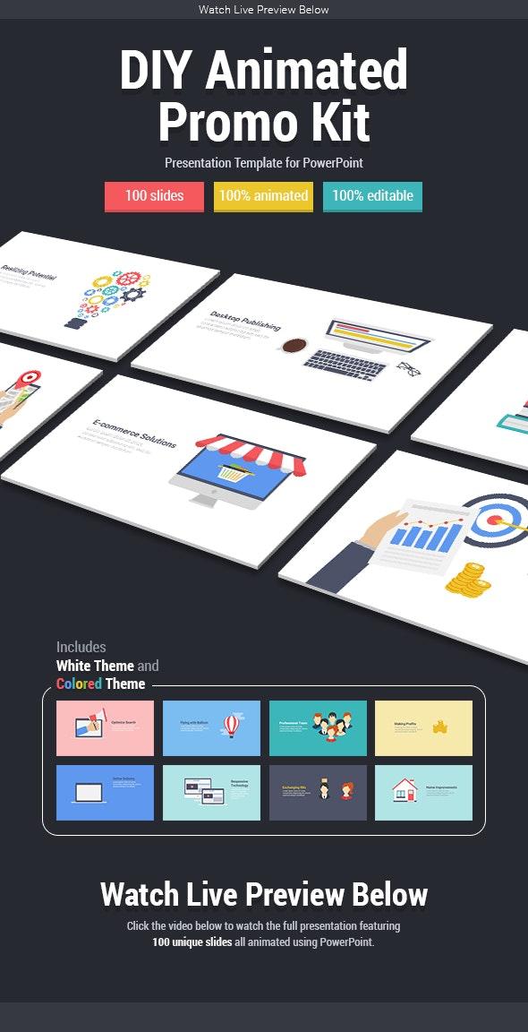 DIY Animated Promo Kit - PowerPoint Templates Presentation Templates