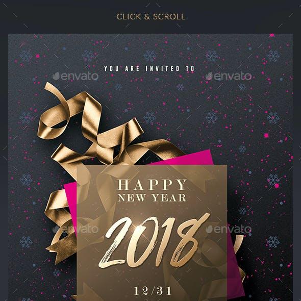 Classy New Year - Invitation