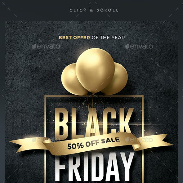 Black Friday - Sale Flyer Template