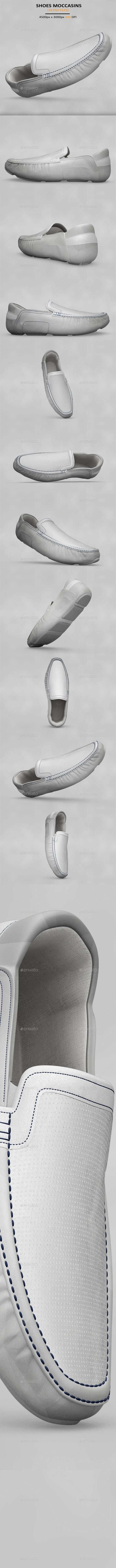Shoes Moccasins MockUp - Product Mock-Ups Graphics