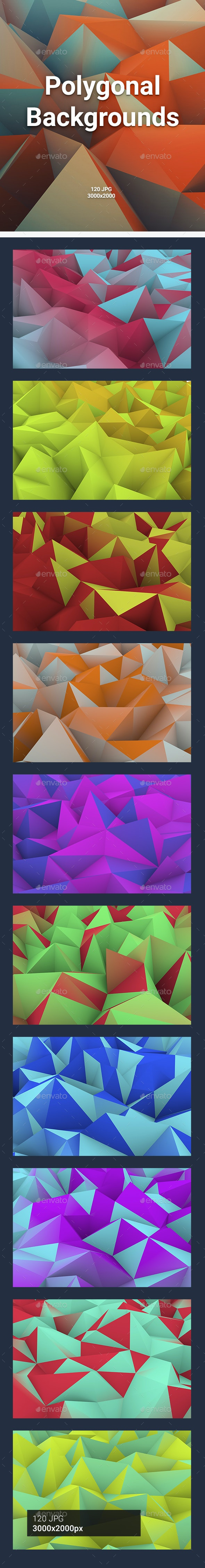 120 Polygonal Backgrounds - Abstract Backgrounds