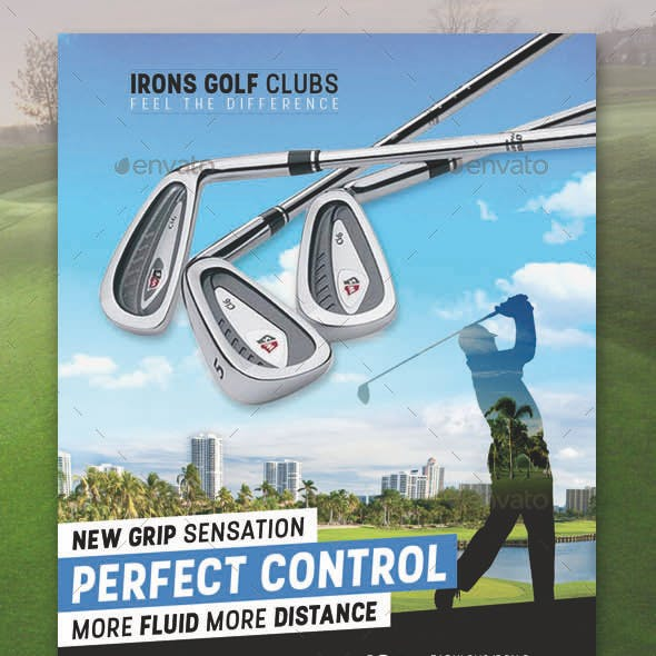 Golf Product Flyer PSD