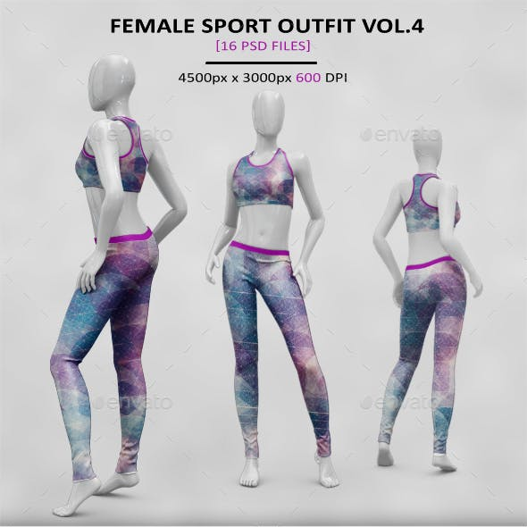 Female Sport Outfit VOL.4 MockUp