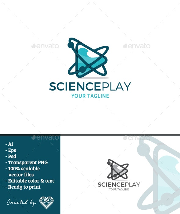 Science Play - Symbols Logo Templates