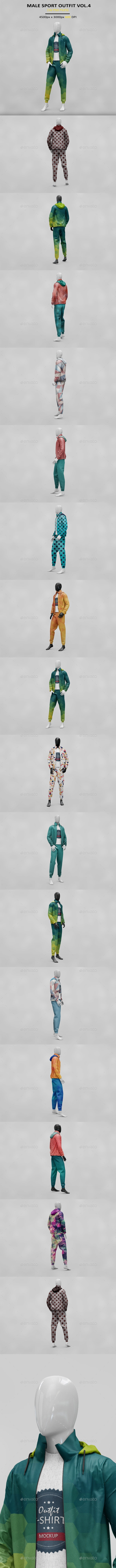 Male Sport Outfit MockUp - Product Mock-Ups Graphics