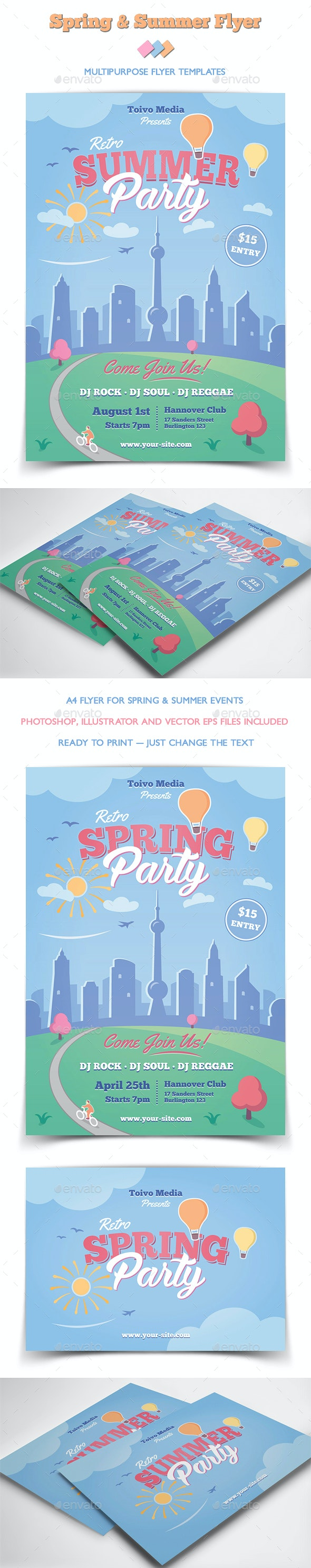Spring and Summer Flyer - Miscellaneous Events