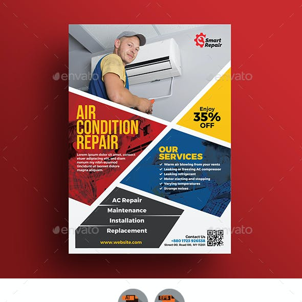 Repair Service Flyer Template