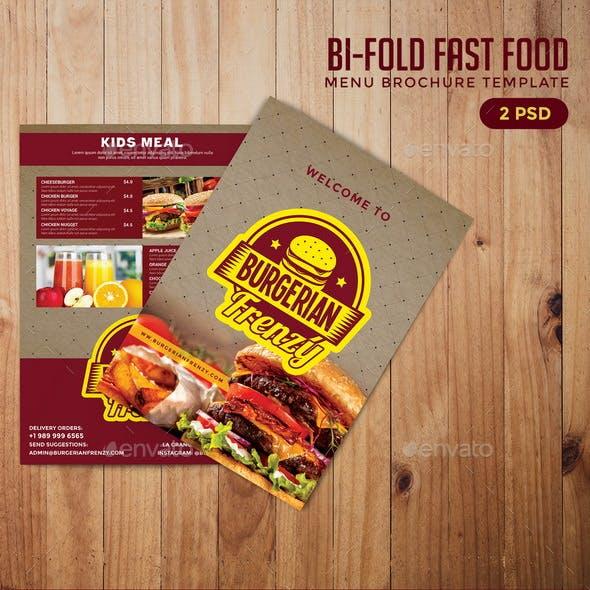 Bifold Fast Food Menu Brochure Template