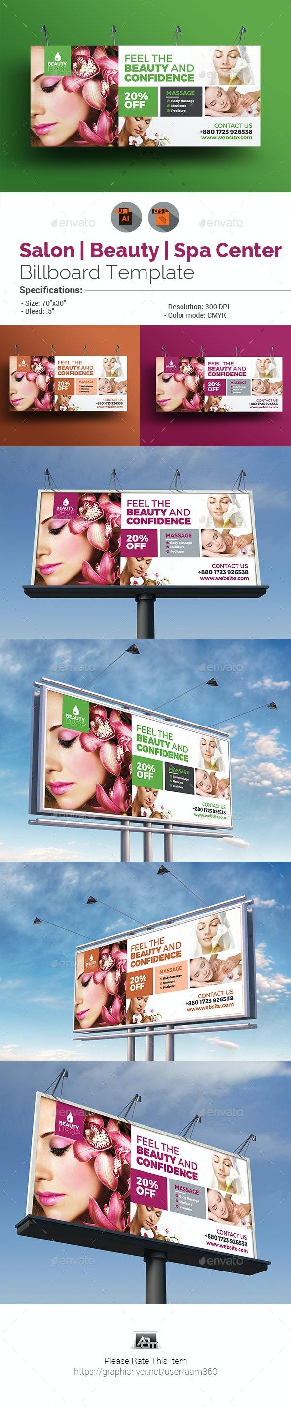 Spa & Beauty Care Billboard Template - Signage Print Templates