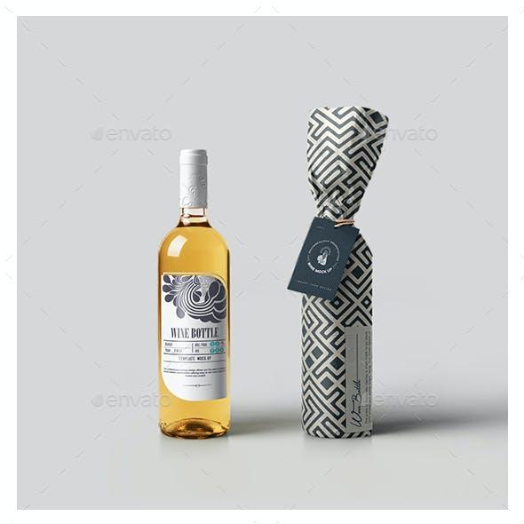 White Wine Bottle Mock-up