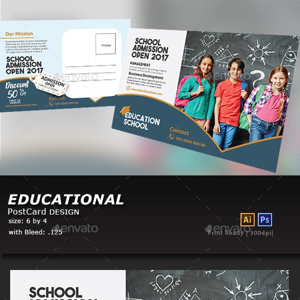 Education Postcard Design