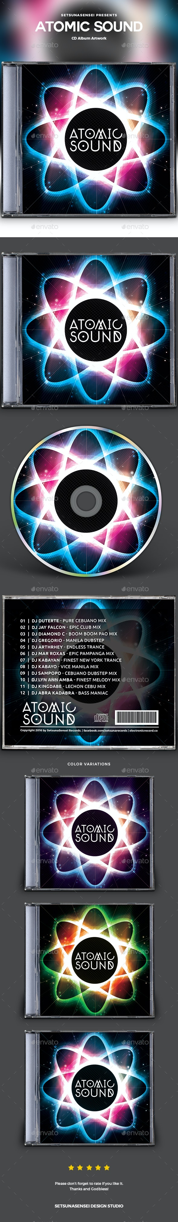 Atomic Sound CD Album Artwork