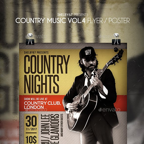 Country Music Flyer / Poster Vol 4