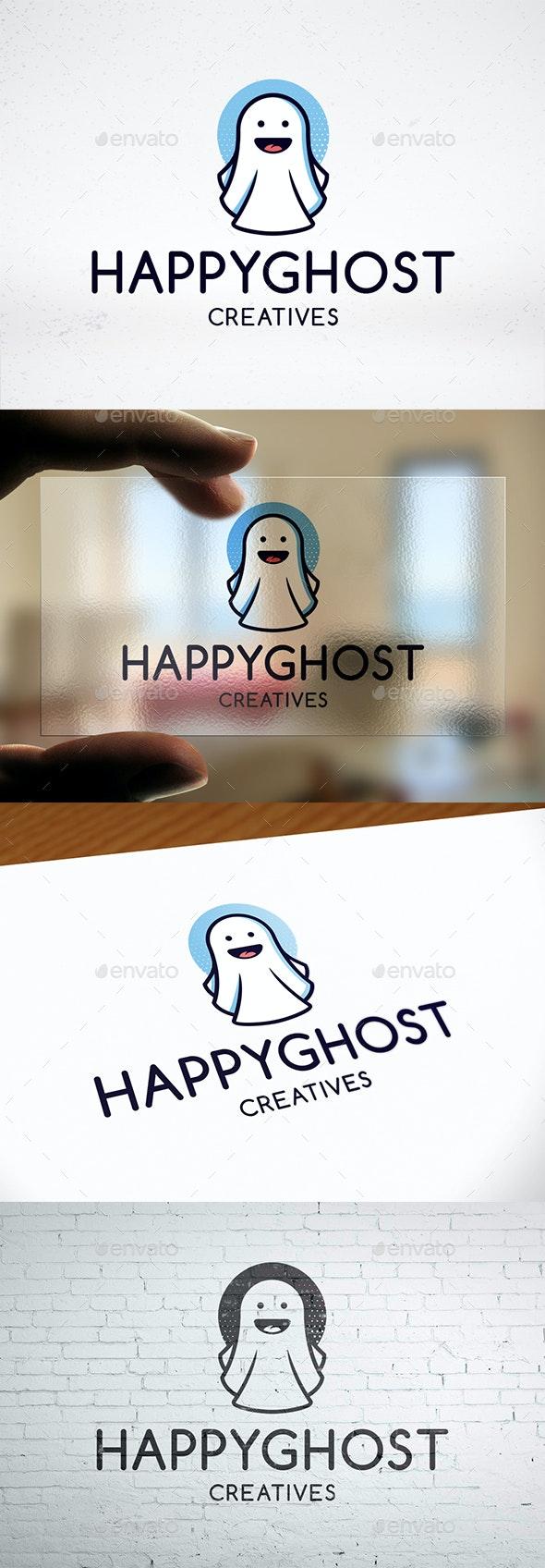 Halloween Ghost Logo Design
