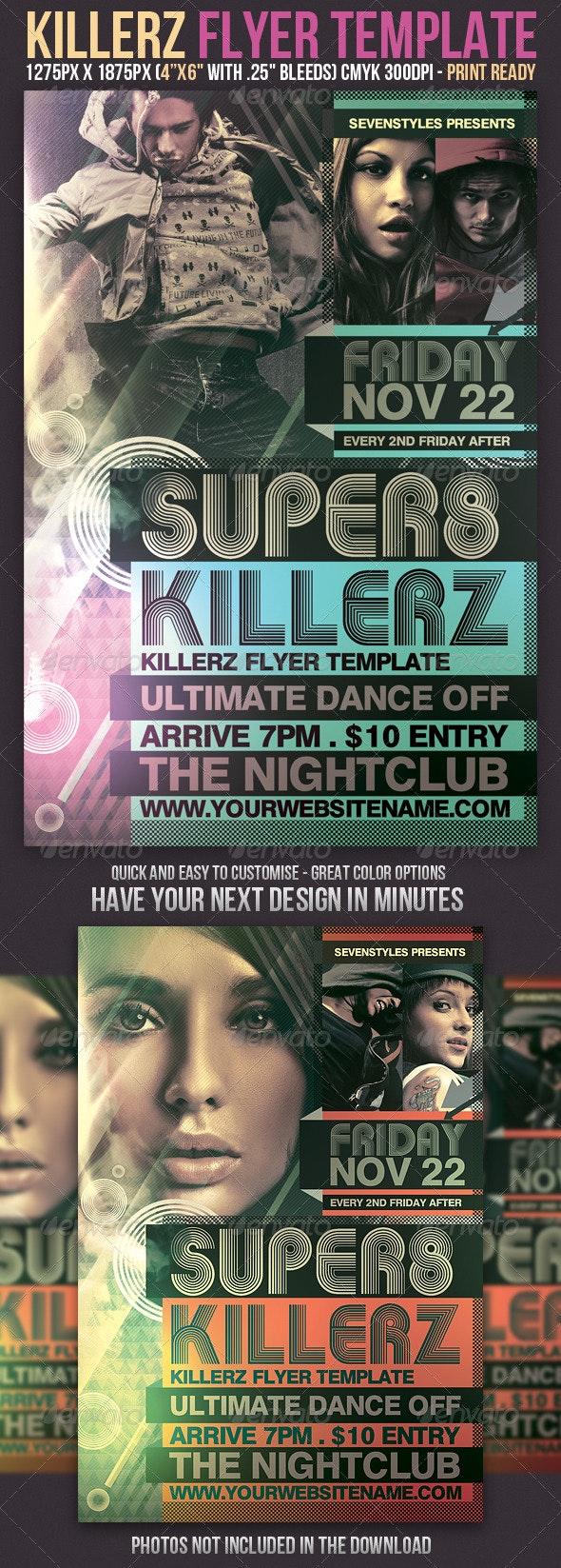 Killerz Flyer Template - Clubs & Parties Events