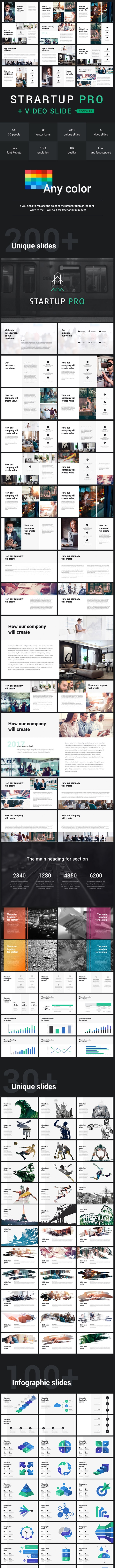 Startup Pro + Video Powerpoint Template - Business PowerPoint Templates