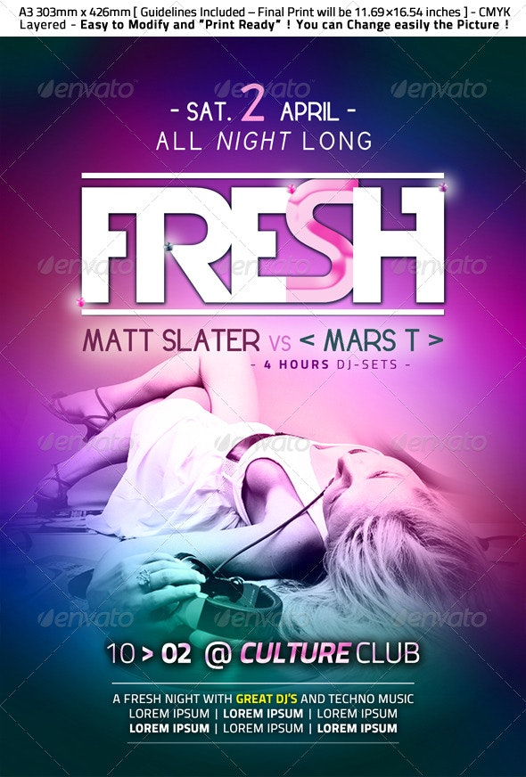 Fresh Party Flyer - Clubs & Parties Events