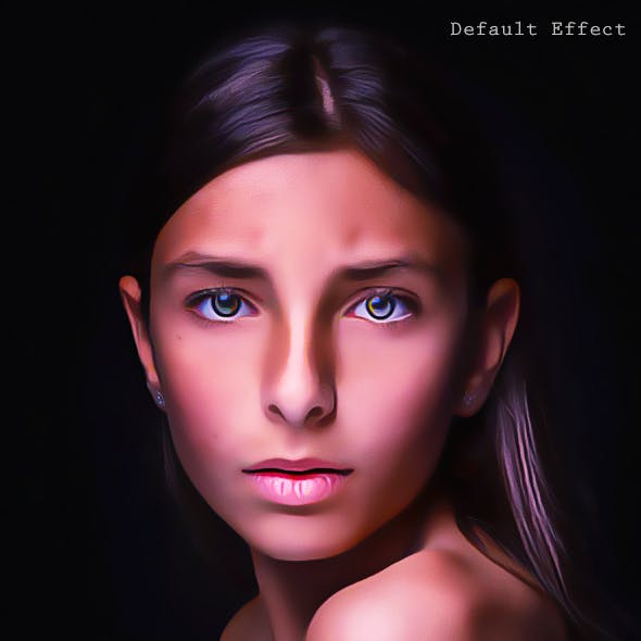 Dramatic Oily Retouch Action