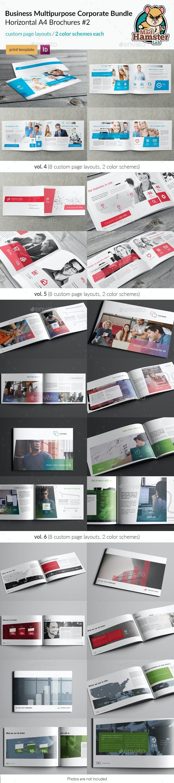 3x Business / Corporate Multi-purpose A4 Brochures #2 - Corporate Brochures