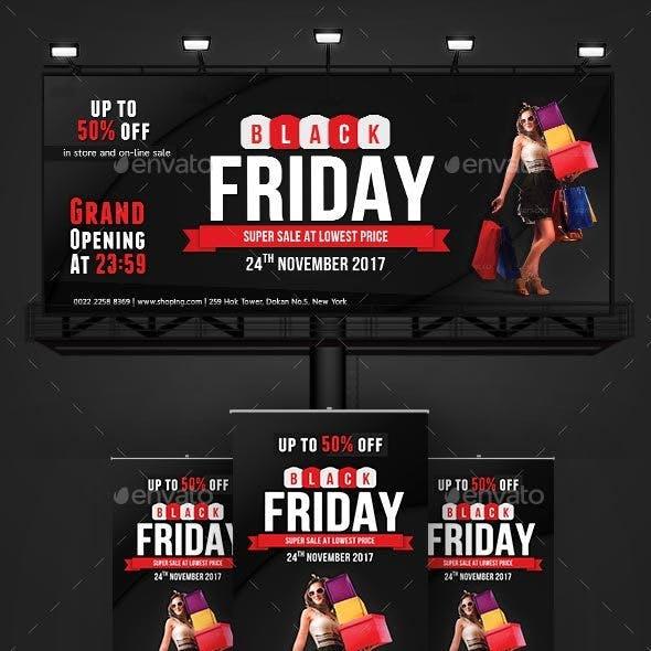 Black Friday Billboard | Black Friday Roll-Up Banner Templates