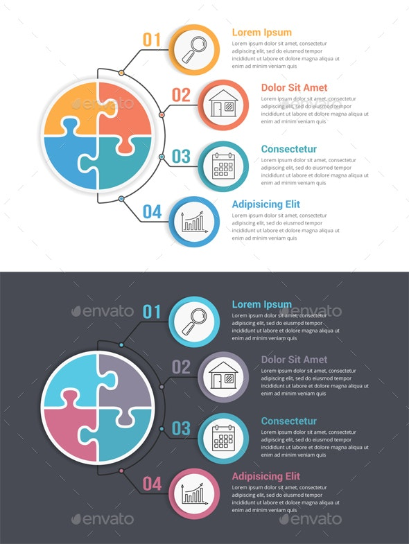 Puzzle Circle - Infographics - Infographics