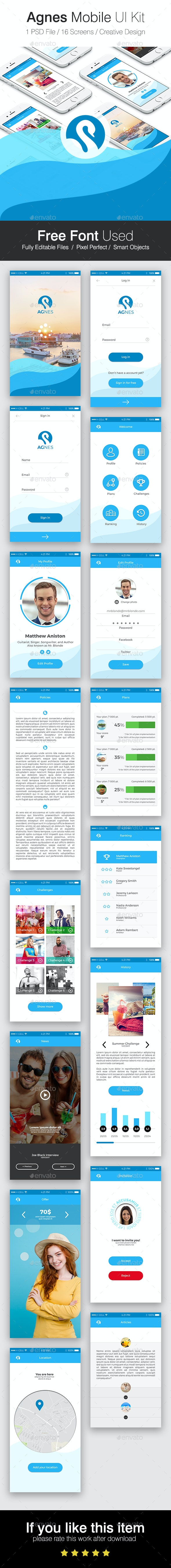 Agnes Mobile Ui Kit - User Interfaces Web Elements