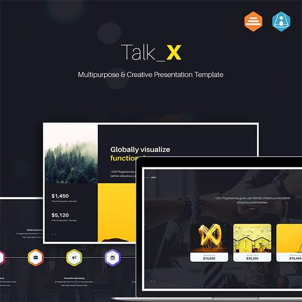 Talk_X Multipurpose & Creative (Keynote)