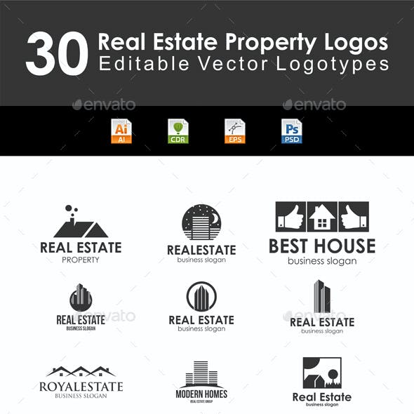 30 Real Estate Property Logo Badges