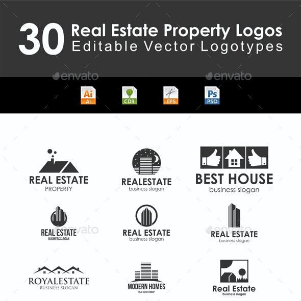 30 Real Estate Property Logo Badges