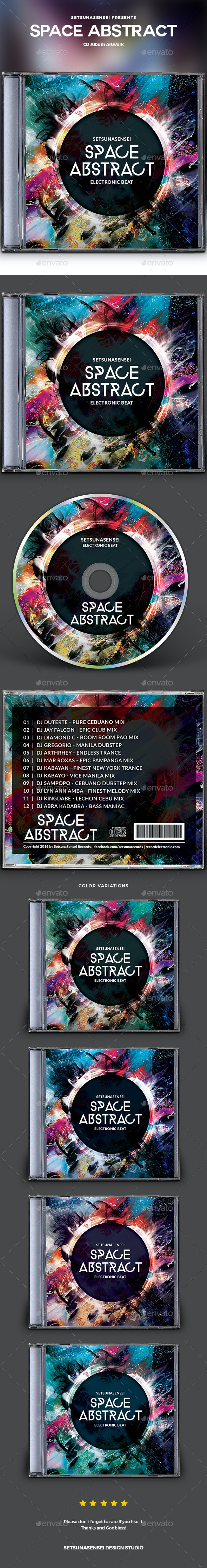 Space Abstract CD Album Artwork