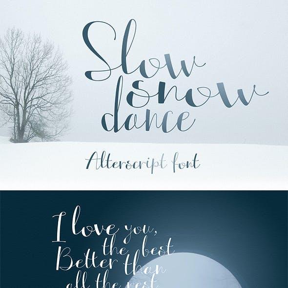 Hight Contrasting Hand Font Alterscript