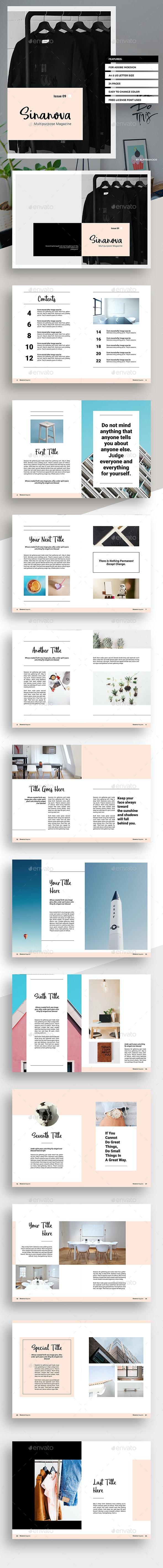 Sinanova Magazine - Magazines Print Templates