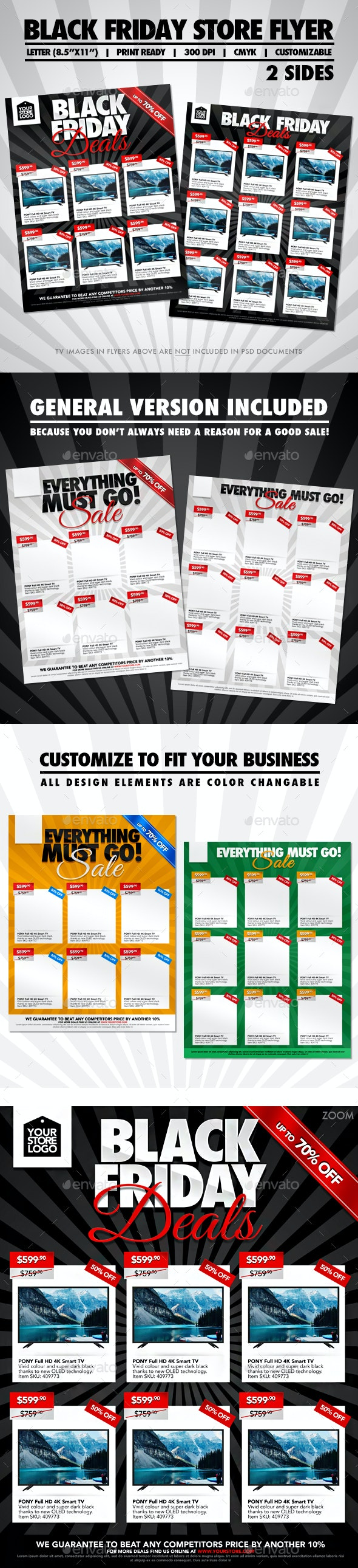 Black Friday Two Sided Store Flyer - Commerce Flyers