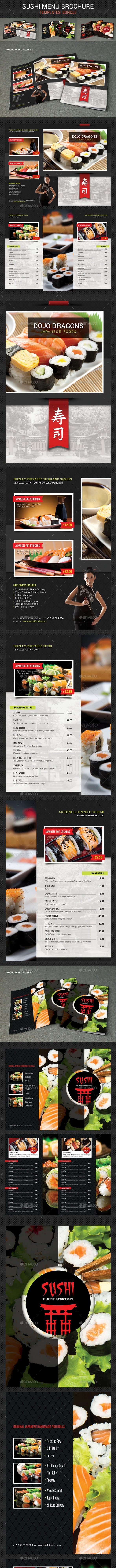 Sushi Menu Brochure Bundle