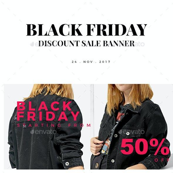 Black Friday Discount Sale Instagram Banner