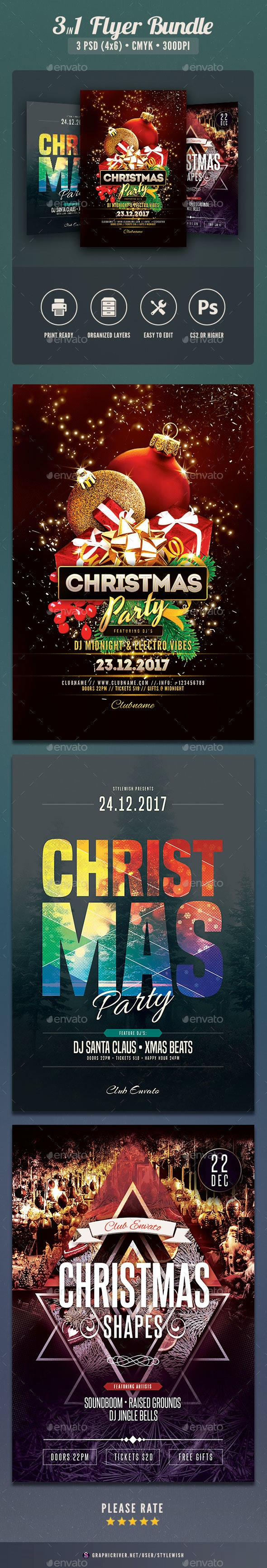 Christmas Flyer Bundle Vol.05 - Clubs & Parties Events