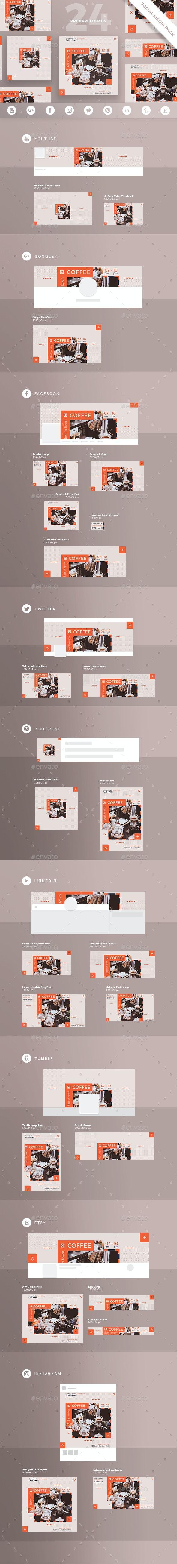 Coffee Shop Social Media Pack - Miscellaneous Social Media