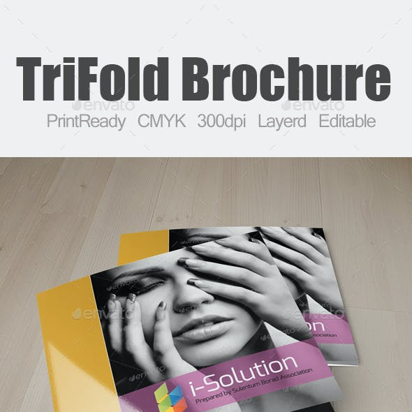 Multi Use Business Square Trifold Brochure