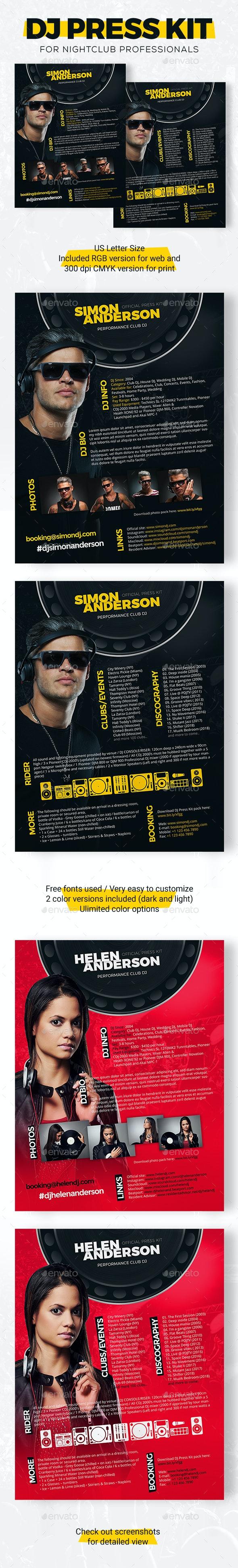 Roll - DJ Press Kit / DJ Resume / DJ Rider PSD Template - Resumes Stationery