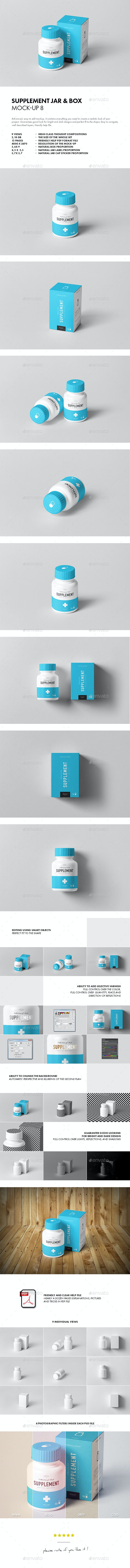 Supplement Jar & Box Mock-up 8 - Miscellaneous Packaging