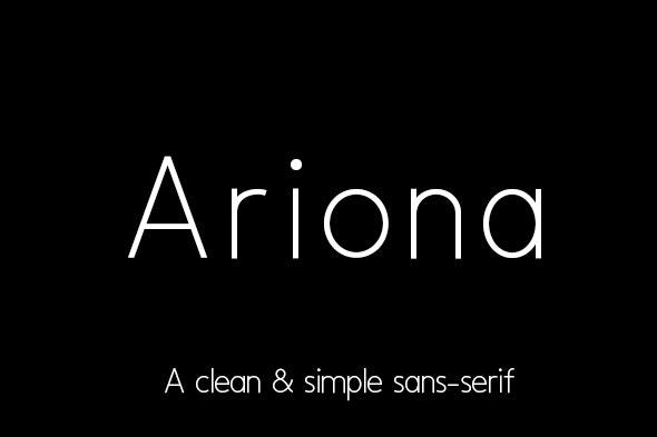 Ariona - Sans-Serif Fonts
