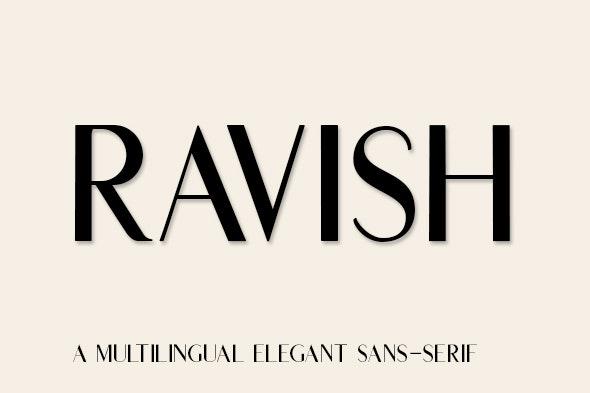 Ravish - Sans-Serif Fonts