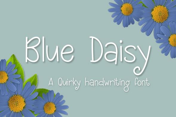 Blue Daisy - Hand-writing Script
