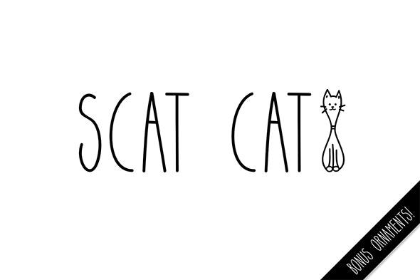 Scat Cat - Condensed Sans-Serif