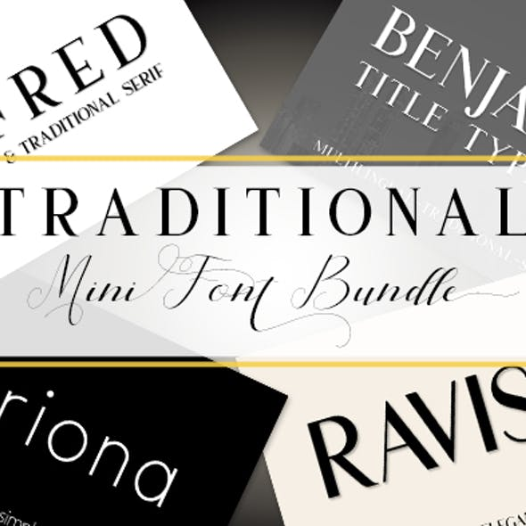 Traditional Font Bundle