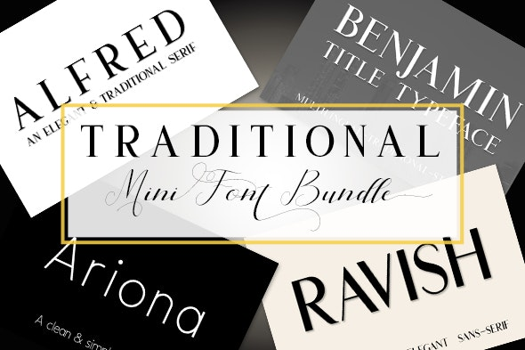 Traditional Font Bundle - Fancy Fonts