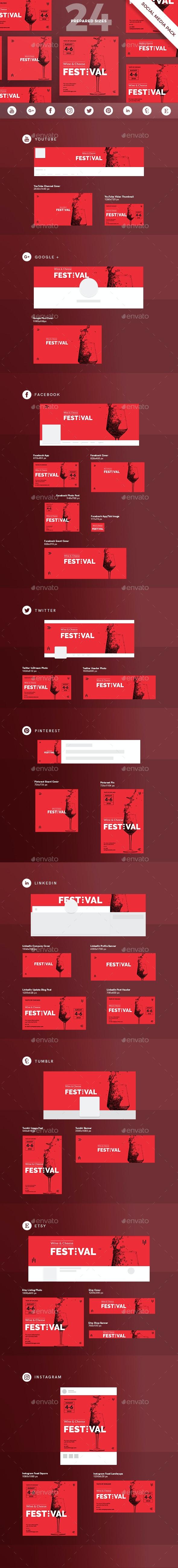 Wine Festival Social Media Pack - Miscellaneous Social Media