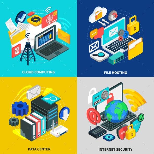 Cloud Technology 2x2 Design Concept - Business Conceptual