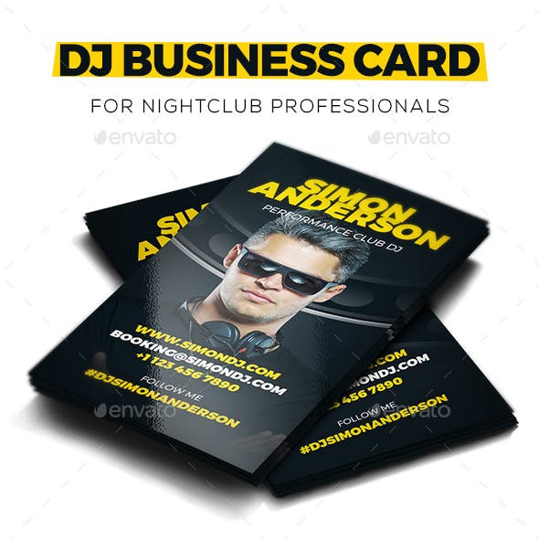 Roll - DJ Business Card PSD Template